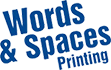 Words and spaces logo